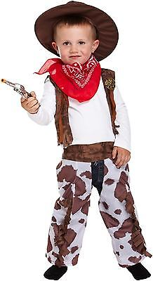 Toddler Cowboy Hood Childs Fancy Dress Up Party Child Costume World Book Day NEW ()