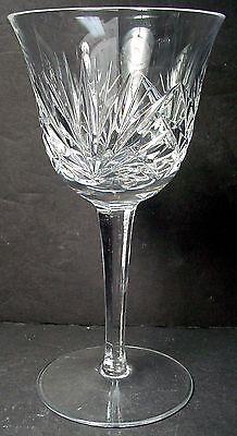 "GORHAM crystal CHERRYWOOD pattern WATER GOBLET or GLASS 6-7/8"""