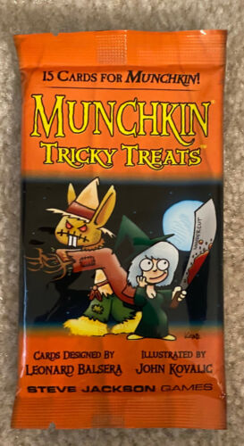 Munchkin Tricky Treats Booster Pack 15 New Cards Factory Sealed Halloween Bonus