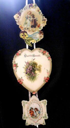 Vintage Embossed Germany Hanging Valentines