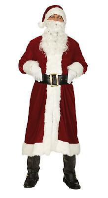 Weihnachtsmann Nikolaus Kostüm 4tlg.Weihnachten roter Nikolausmantel - Rot Mann Kostüm