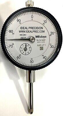Mitutoyo 2416s Dial Indicator 0-1 Range .001 Graduation 0-100 Dial