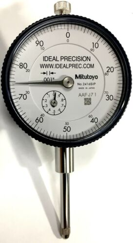 "Mitutoyo 2416S Dial Indicator, 0-1"" Range, .001"" Graduation, 0-100 Dial"