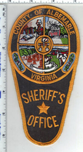 Albemarle County Sheriff (Virginia) Uniform Take-Off Shoulder Patch Early 1980s