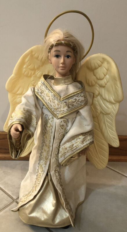 """Vintage Holiday Creations Animated   Christmas Angel AS IS 17""""."""