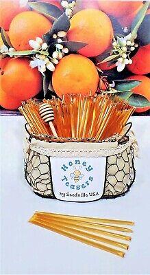 Honeystix Straws - 100 Stick Pack Bulk ORANGE BLOSSOM HONEY TEASERS Honeystix Straws Wholesale