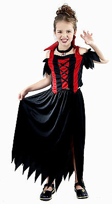 Fancy Dress Child Vampire Girl Ages 4-12 Years Available