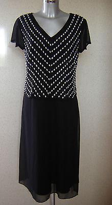 BERKERTEX Black Embellished / Beaded Mono Dress UK Size 20 NEW TAGS