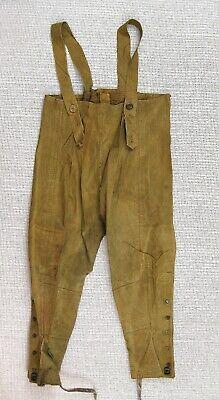 BRITISH ARMY WW2 DISPATCH RIDER PANTS TROUSERS CHAPS 1943 MC - $75.00