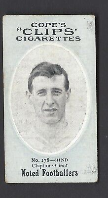 COPE - NOTED FOOTBALLERS (CLIPS 282) - #178 HIND, CLAPTON ORIENT