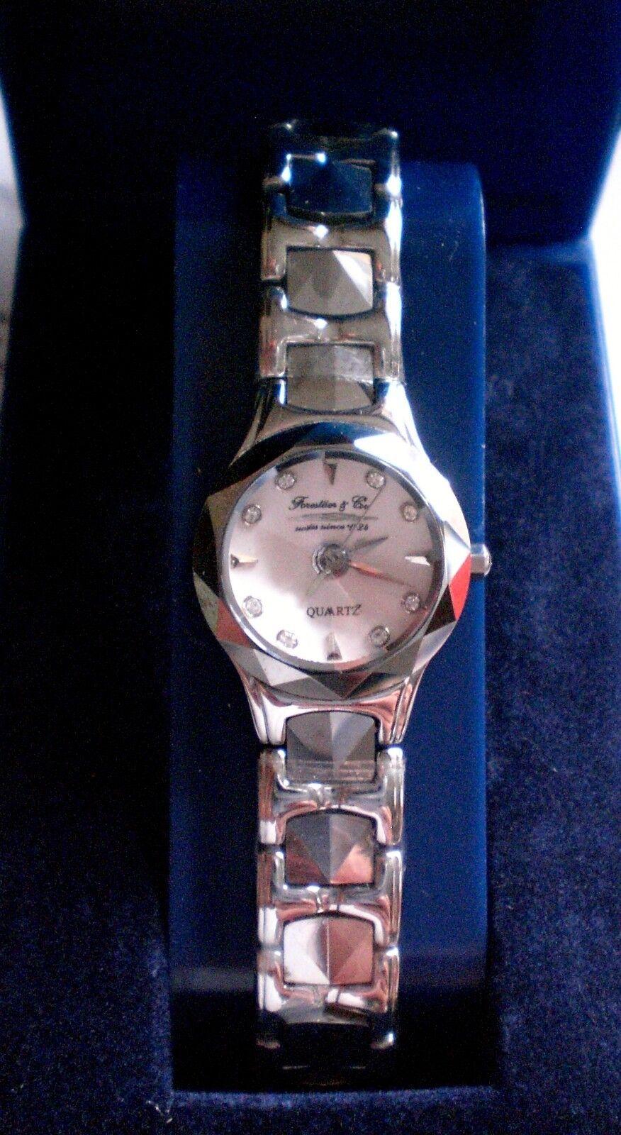 Forestier & Cie. - Schweizer Uhr, Damenuhr mit Prisma- Glas -NEU-