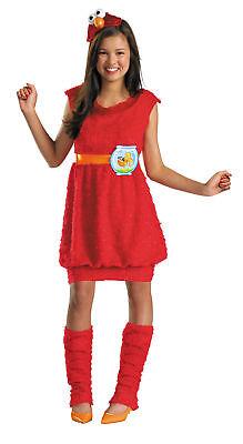 SESAME STREET ELMO TWEEN CHILD COSTUME Character Girls Red Theme Halloween Party