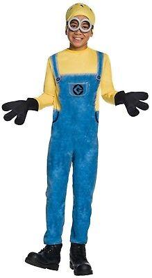 Minion Jerry Boys Kids Costume Sz Medium (8-10) Despicable Me Jumpsuit 5 Pc - Despicable Me Minion Costume Kids