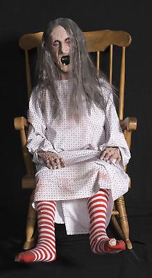 ROCKING GRANNY Animated Halloween Prop Grandma Talking Distortions](Rocking Granny Halloween Prop)