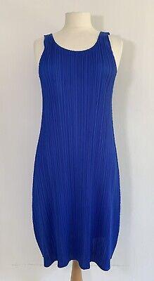 PLEATS PLEASE Issey Miyake sleeveless blue dress, JP 4