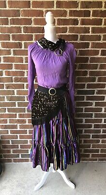 Mystical Gypsy Dress Head Scarf Waist Sash Halloween Costume Girl - Gypsy Girl Kostüm Halloween
