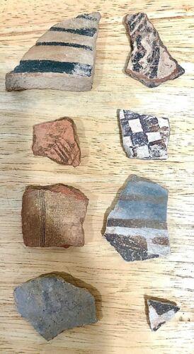 Native American Pottery Shards - Southwest (AZ & NM) - Lot of 8