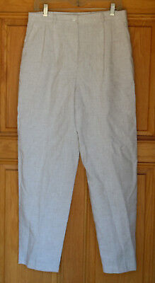 Requirements Ladies Size 14 Beige Pleated Front Dress Pants - Ladies Pleated Dress Pants