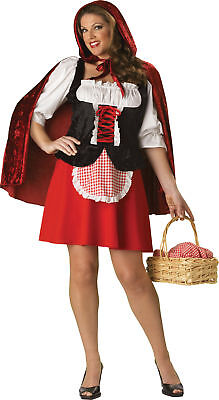 Red Hot Riding Hood Adult Women Costume Ruffled Lace Skirt InCharacter Plus Size Adult Red Hot Riding Hood