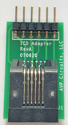 Icsp To Rj11 Adapter Board For Microchip Icd Pickit 3 Or Pickit4 Made In Usa