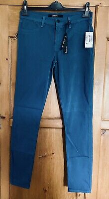 J Brand 485 Mid Rise Luxe Sateen Super Skinny Jeans Trousers 28 Blue BNWT
