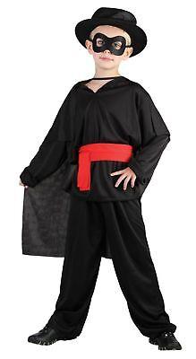 KIDS BANDIT ZORRO WARRIOR FANCY DRESS BOOK WEEK SIZE 4-12 YEARS - Zorro Dress