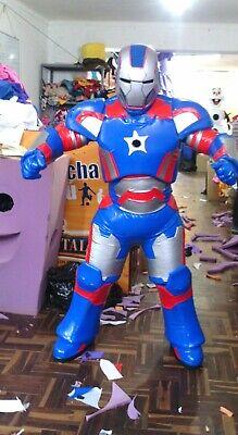 Ironman Payrior Blau Avengers Superhelden Maskottchen Kostüm Party Charakter (Superhelden Charakter Kostüme)