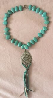 Turquoise Necklace with Silver Amulet South Brisbane Brisbane South West Preview