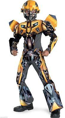 Transformers BUMBLEBEE Deluxe 3D Child Costume Size Medium 7-8 - - Deluxe Bumblebee Costume