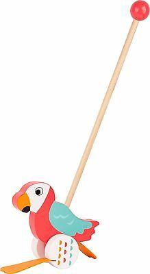 Schiebetier Papagei Lori Watschel Schiebefigur Holz Schiebespielzeug für Kinder