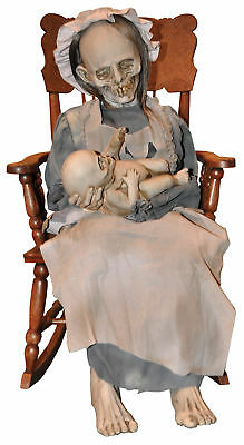 LULLABY ANIMATED PROP Haunted House Yard Realistic Moving Halloween Ghost Mom](2017 Halloween Props)