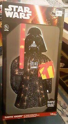 """RARE STAR Wars 28"""" Darth Vader Outdoor Indoor Lighted Decor Kurt Adler"""