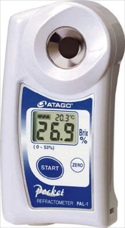 Atago Pocket Refractometer PAL-1 Brix 0-53% Digital Hand Held with cover set NEW
