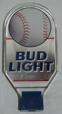 Vintage Acrylic Lucite Bud Light  Beer Tap Handle Baseball