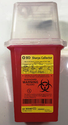Sharps Container Biohazard Needle Disposal Qt Size  Etc Free Ship