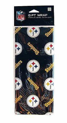 NFL FOOTBALL TEAM HOLIDAY GIFT WRAP PAPER 3 SHEETS 30