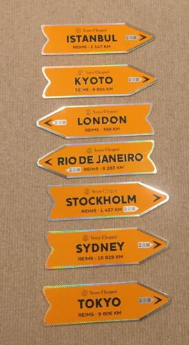 Clicquot Arrow Tin Journey Signs. Antique Barware Advertising Sign from France.