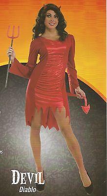 Women Halloween Costumes Devil (NEW Women's Red DEVIL Rubie's Halloween Sensations Costume Size M)