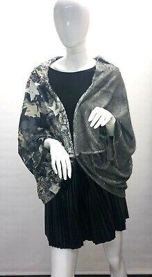 Missy Überwurf/Jacke/Poncho mit Strasssteinen Abstrakt ..One Size Top Design Wow (Jacken Mit Strass-steinen)