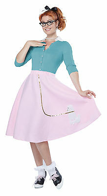 Women 50's Hop with Poodle Skirt Adult Halloween Costume - 50s Halloween Costume