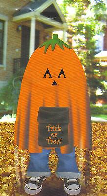 Stuff a Pumpkin Trick or Treat Leaf Bag Halloween Home Indoor Outdoor Decor