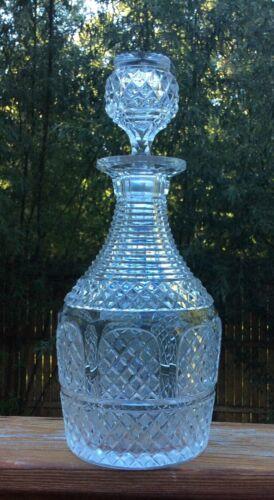 Large American Brilliant Cut Glass Decanter
