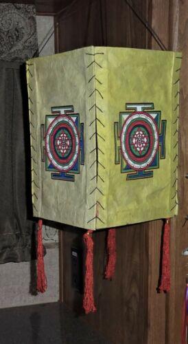 Vintage Wall Hanging Tibetan Thangka Mandala Buddhism Painting Print Decor Nepal