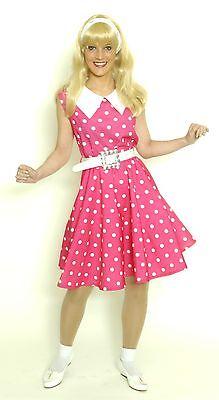 Damen Mädchen Kostüm 50er Jahre KLEID Petticoat Tellerrock Rock'n'Roll pink - Rosa 50er Jahre Kleid Kostüm