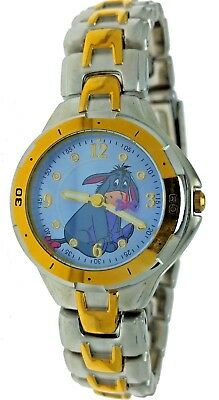 New Old Stock Disney Winnie The Pooh Eeyore Round Two Tone Metal WR Watch (Round Metal Stock)