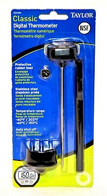 Taylor Precision Classic Instant Digital Thermometer Model 9840rb - New