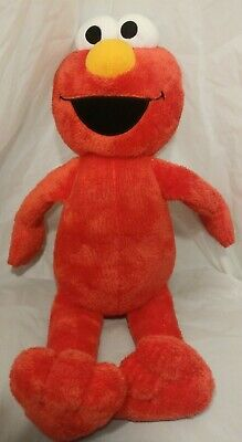 "Sesame Street Elmo Plush Doll 18"" Large Stuffed Toy Figure with Soft Eyes"