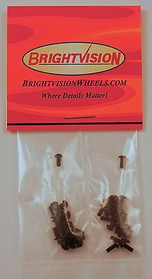 Forty BLACK 1-72 Hex-Drive Button-Head Screw-In Rivets For Customs Restorations