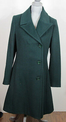 Helene Berman Double Breasted Fit & Flare, Forest Green Coat, Large