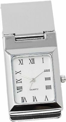 Square White Watch Stainless Steel Hinged Money - Hinged Clip Watch